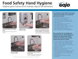 Food Hygiene Poster Gojo Food Safety Hand Wash Poster Nichols