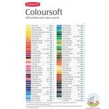 Derwent Coloursoft Color Chart Derwent Coloursoft Colour Chart In 2019 Derwent Colored