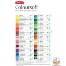 Derwent Coloursoft Colour Chart In 2019 Derwent Colored