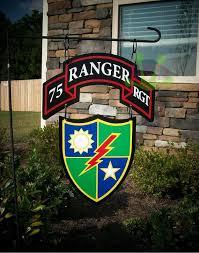 metal ranger dui and bn rgt scroll garden flag by vinylfrogdesigns 50 00
