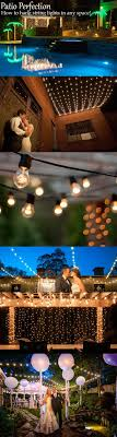 diy outdoor wedding lighting. How To Hang Patio Lights Diy Outdoor Wedding Lighting