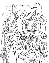the grinch who stole christmas coloring pages. The Grinch Is Unhappy Whoville Coloring Page HOLIDAY Pages CHRISTMAS HOW To Who Stole Christmas Hellokidscom