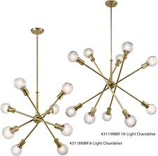 kichler dining room lighting armstrong. Kichler Nbr Natural Brass Chandeliers From The Armstrong Collection With Clearance Dining Room Lighting N