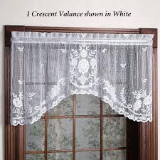 white lace valance curtain macrame curtains swag window valances full size