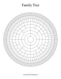 9 Generation Family Tree Template Circular 9 Generation Family Tree Template