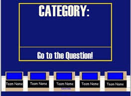 Jeopardy Game Template A smart notebook jeopardy game template with sounds. Fill in the ...