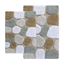 chesapeake merchandising pebbles spa two piece bath rug set