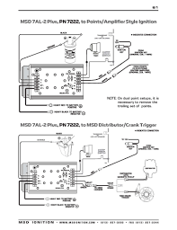 msd ignition wiring diagrams installation instructions · msd 7al 2 plus to msd distributor crank trigger