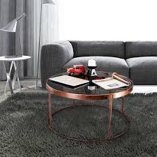 rose gold round kmart coffee table gold console marble