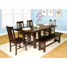 6 piece dining table set walker 6 piece meridian wood dining set in cappuccino lyon 6