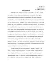 texas revolution essay reid worrel manifest destiny dr megan most popular documents for hist