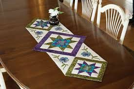 Table Runner Patterns New Star Flower Table Runner Quilt Pattern Keepsake Quilting