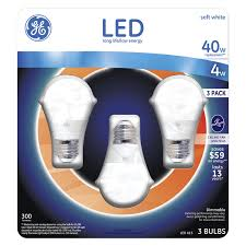 ge 4 watt led soft white a15 ceiling fan light bulb 3 count 0