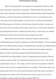Professionalism In Nursing Professionalism In Nursing Utmost Importance And Nursing Is Among