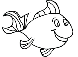 Small Fish Template Fish Outline Printable Fish Coloring Page Template Small Fish