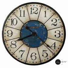 oversized vintage worn blue dial wall clock