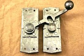 sliding door lock latch door lock hardware sliding barn door lock latch in nickel incredible regarding