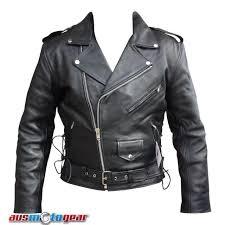 brando leather jacket 100 genuine cowhide leather