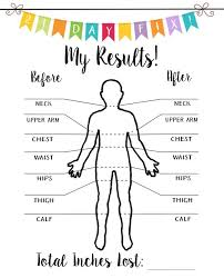 isagenix measurement tracker 21 day fix measurement tracker before and after