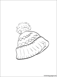 Small Picture Winter hat coloring page Coloring pages