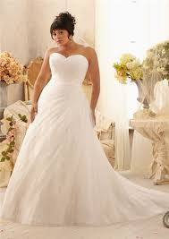 a line sweetheart lace tulle beaded plus size wedding dress with