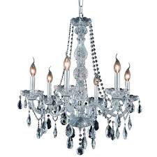 elegant lighting verona 24 6 light elegant crystal chandelier