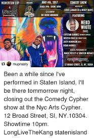 momentum exp presents kypher event space mupnasty may 4th 2017 comedy show door 9pm show 10pm hosted by chris lamau mikey mayes 15 entry featuring no