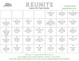 August Calandar August 2019 Yoga Calendar Reunite Yoga With Adriene