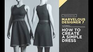 Photo Designer 7 Marvelous Designer 7 How To Create A Simple Dress