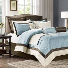 blue king size comforter sets. Architecture Amazon Com Madison Park Juliana King Size Bed Comforter Set In Throughout Blue And Brown Sets