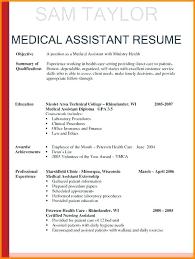 Medical Assistant Resume Objective Stunning Medical Assistant Resume Objective New Cna Resume For Hospital