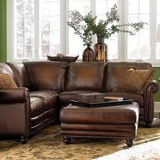 Leather Sectional Living Room Green Wall Color And Floral Carpet For Charming Living Room Ideas