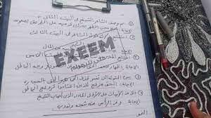 """إنفوجراف.. نموذج حل امتحان العربي ثانوية عامة 2021 أدبي وعلمي """"بابل شيت""""  لغة عربية"""