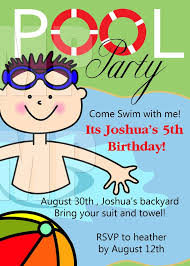 Free Printable Birthday Pool Party Invitations Templates