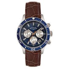 rotary watches h samuel rotary men s blue dial brown leather strap watch product number 3562670