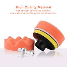 <b>7pcs</b>/Set Drill Polishing Pads 3 inch Sponge <b>Car</b> Buffing Waxing ...