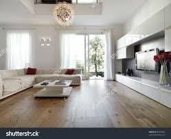 Wood Design For Living Room Modern Living Room Wood Floor Stock Photo 87878842 Shutterstock
