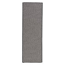 home decorators collection sa black 2 ft x 10 ft indoor outdoor braided