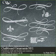 Chalkboard Ornaments Brushes and Stamps No. 01