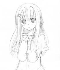 のびのび私の落書き日記 冬っぽい服の女の子描きました下書き