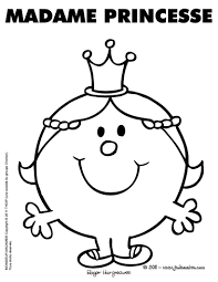 Madame Princesse Coloriage Pinterest Madame Prince Et Coloriage