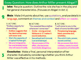 the crucible essay planning miss ryan s gcse english media if a question seems very broad you can contextualise it yourself in the examples above they have chosen to show specific aspects of each character