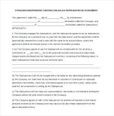 Commission Agreement Template Free Sample Example Format Sales ...