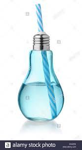 Perfume On Light Bulb Front View Of Light Bulb Glass Bottle Isolated On White