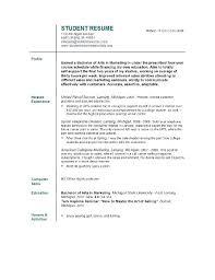 Sample Student Resume Template Graduate Australia Templates