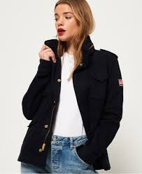Superdry Size Chart Us Superdry Rookie Classic Military Jacket Womens Jackets