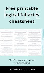 Get The Free A4 Pdf Printable Logical Fallacies Cheatsheet Today For
