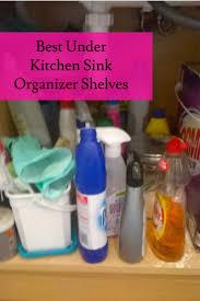 top rated under kitchen sink organizer shelf under sink storage units