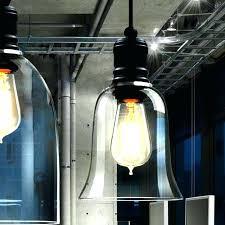 glass bell pendant light loft antique clear glass bell pendant lighting mercury glass bell pendant light