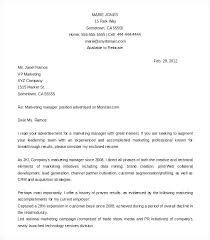 Marketing Cover Letter Example Sample Executive Assistant